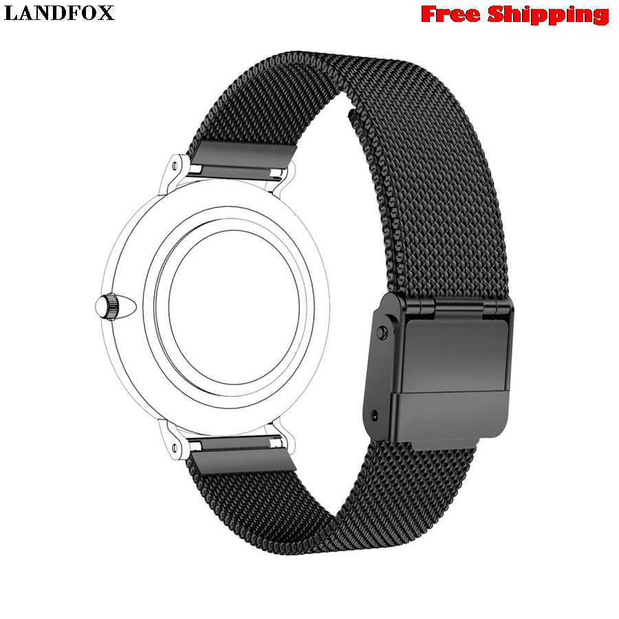 LANDFOX Magnetic Stainless Steel Watch Band For Daniel Wellington Classic Petite 32MM Smartwatches Wristband New Fashion Replace