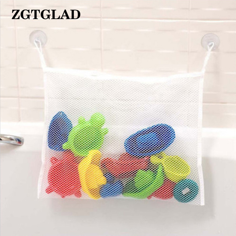 ZGTGLAD 1Pcs Top Quality Baby Bath Bathtub Toy Mesh Net Storage Organizer Holder Cloth Storage Hanging Bags 35x45cm