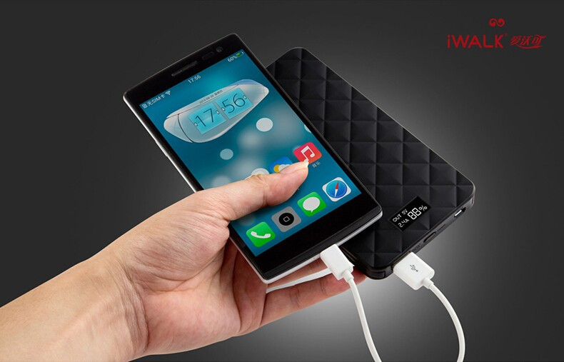 iwalk power bank and mobile