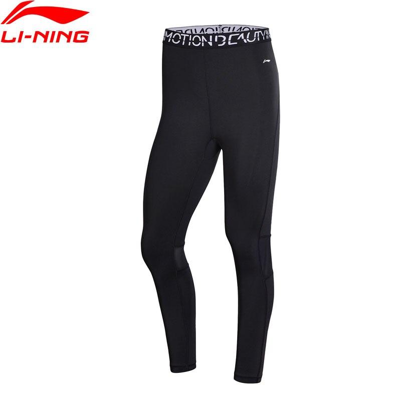 Li-Ning Performance Women Training Pants Base Layer Tight Fit Breathable Elastic LiNing Li Ning Sport Pants AULN088 WKY167