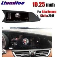 Для Alfa Romeo Giulia 2017 2018 Liandlee Автомобильный мультимедийный интимные аксессуары CarPlay 10,25 дюймов gps радио оригинальный системы навигации NAVI