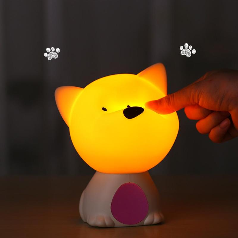 3D Cute Lamp Silicone USB Pat Night Light Changing Colors Baby Lamps Night Lights for Children Kids Room Bedside Table Lamp Gift lediary cute dinosaur led night light 3 colors decoration lamp warm white christmas night lights animal bedside lamp for kids