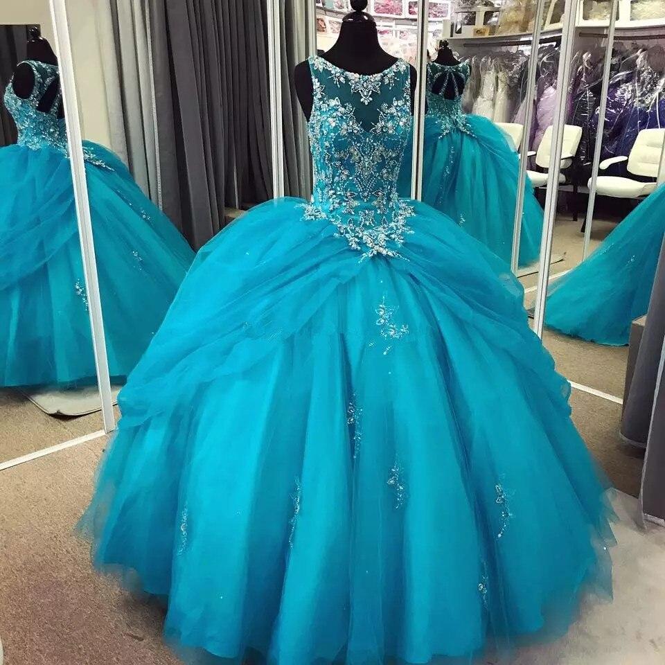 Vestidos De 15 Anos Debutante Gown Puffy Cheap Ball Gown