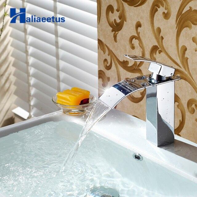 Free Shipping Waterfall Faucet Bathroom Vanity Vessel Sinks Mixer ...