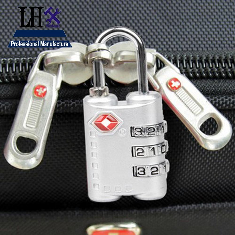 ④TSA LHX TSA 3 Digit Code Password Lock Combination Zipper Luggage ...
