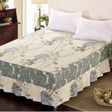 Хлопок эластичная лента кровать юбка Твин Полный queen king размер покрывало наматрасник домашний текстиль 120x200 см 180x200 см 200x220 см
