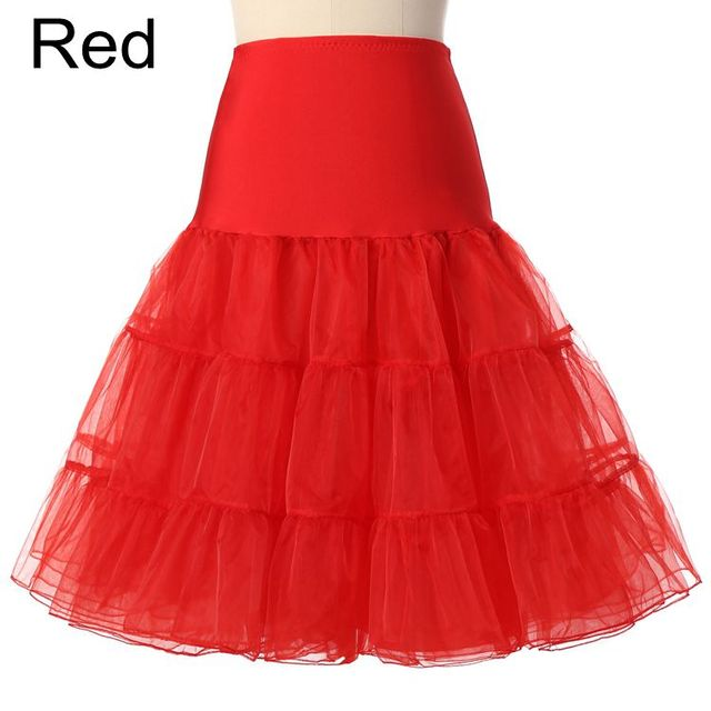 Free Short Organza Halloween Petticoat Crinoline Vintage Wedding Bridal Petticoat for Wedding Dresses Underskirt Rockabilly Tutu 4