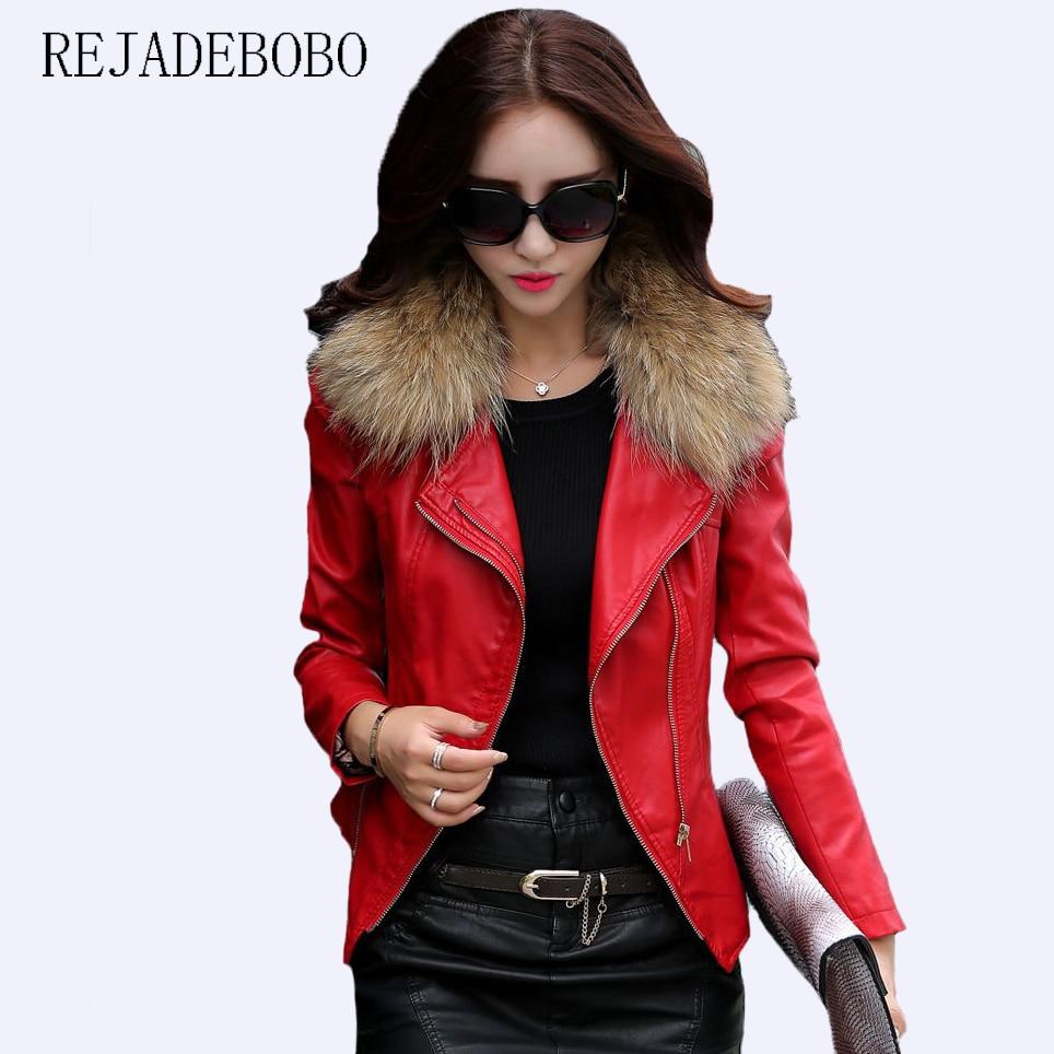 2017 весна осень кожаная куртка женская тонкая плюс размер 5XL большой женская  кожаная одежда короткий дизайн 602eea9404410