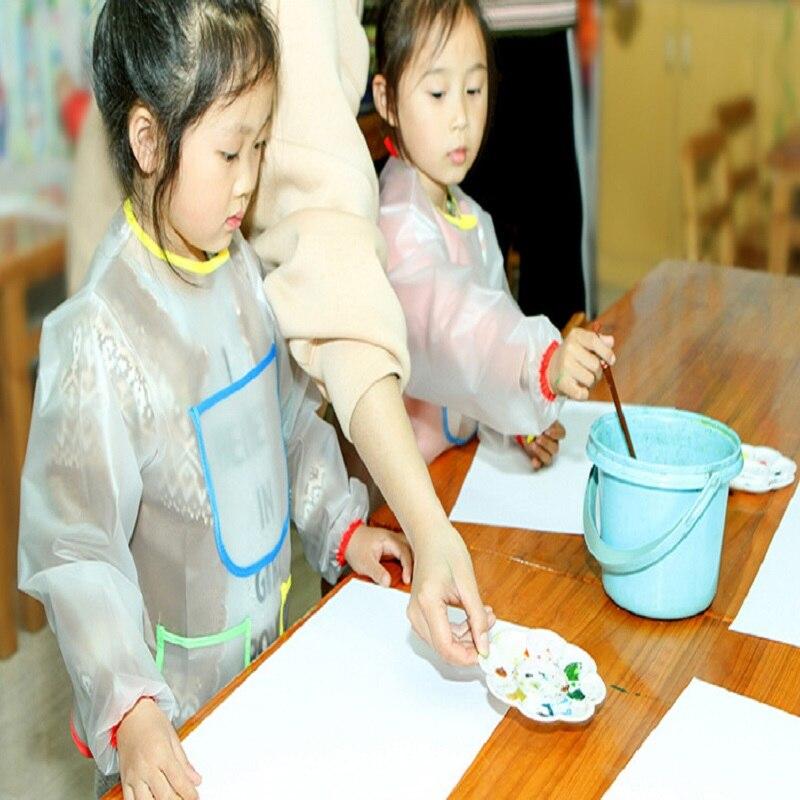 Gehoorzaam Scratch Art Kids Craft Lange Mouwen Schilderen Schort School Kiel Interessante Leren Educatief Speelgoed Tekentafel Accessoires