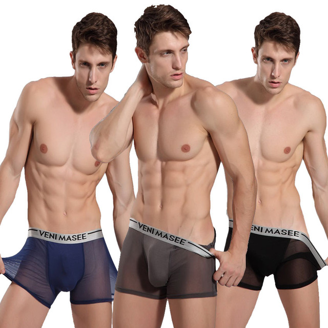Men's Mesh Boxers Summer Preferred Underwear Mens Pouch Boxers ...