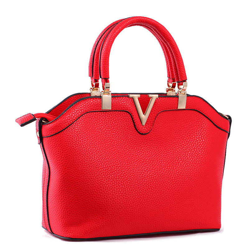 High Quality Pu Leather Women Shoulder Crossbody Bag Fashion Designer Red Zipper font b Handbag b
