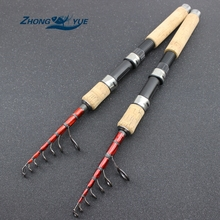 Cheapest prices Carbon M power lure 3.5g -25g 1.6M – 2.7M Portable Telescopic Fishing Rod Spinning Fish Hand Fishing Tackle Sea Rod