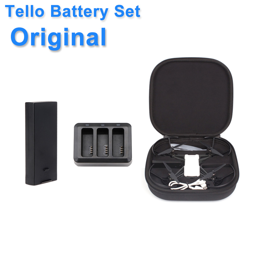 Original DJI Tello Battery & Charging Hub1100 MAh 3.8 V Tello MiNi Drone Case Bag Flight Battery Accessories