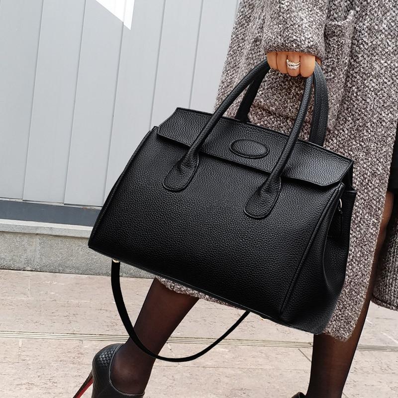 82b81c5ec Nuevo Black Alta Bolsos Mujeres 2019 Sexy Señora Cuero HombroCrossbody  Diseñador Sac Mujer Pu Mensajero De ...
