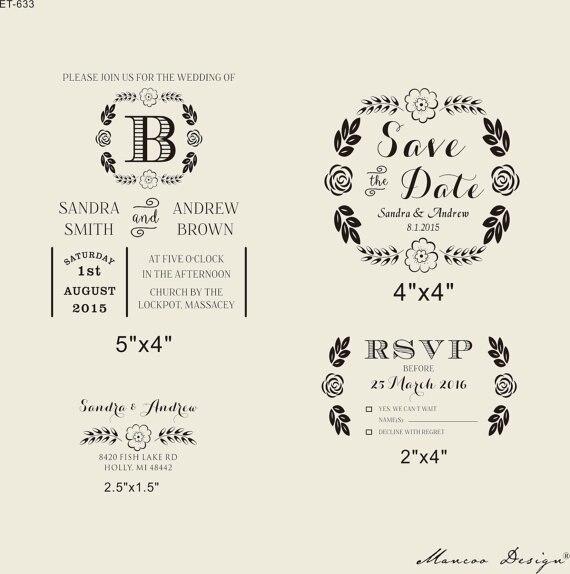 Wedding Invitation Rubber Stamps: DIY Invites Rubber Stamp Wedding Invitation Rubber Stamp