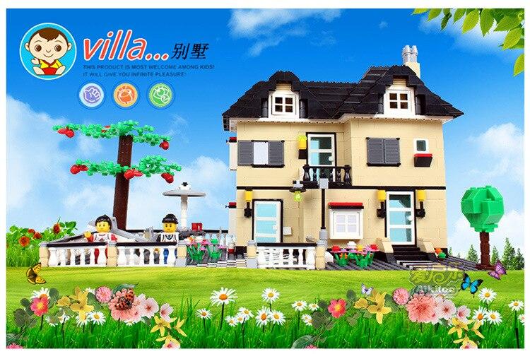 Hot Super Large Villa 816 Pcs Series Building Block Brick Model Compatible with Legoe Duplo Birthday Gift  children Kids Toys hm136 57pcs large particle building