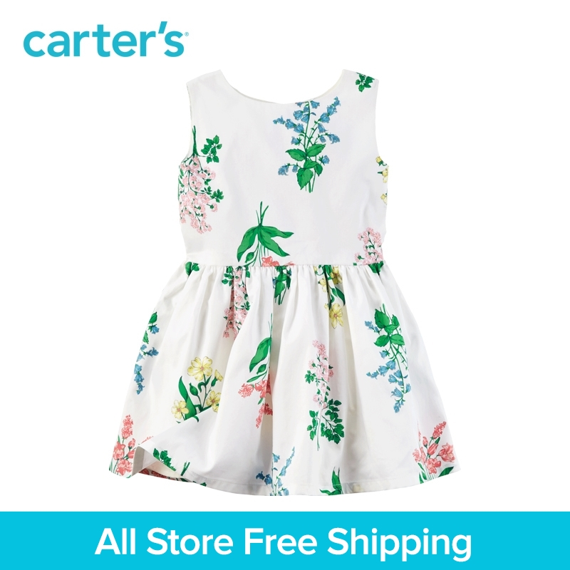 Carter's 1pcs baby children kids Sateen Floral Dress 251G336,sold by Carter's China official store carter s 6pcs baby children kids 6 pack socks gb12311 sold by carter s china official store