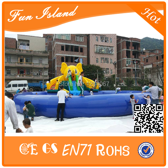 2017 Customize Cheap Inflatable Water Park and Water Slide with Swimming Pool for children factory supply jungle commercial inflatable slide with water pool for adults and kids