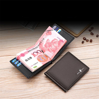 WILLIAMPOLO Fashion Genuine Leather Wallet Men Money Case With Coin Pocket Minimalist Thin Design Card Holder Clip purse