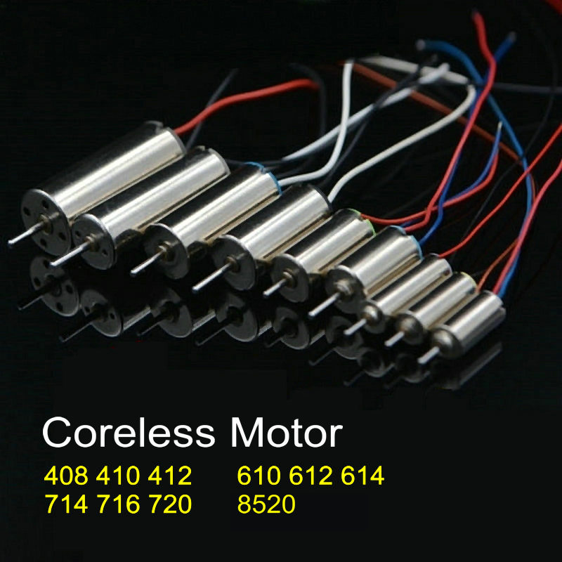 High Quality Powerful 3.7V Coreless Motor 8520 716 720 714 610 For RC Helicopter Quadcopter Small Motor With Motor Pinion Blades