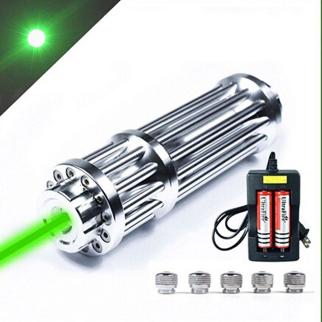 XpertMatic High Power P6 Military 532nm 1000mw 810 Laser Pointer Pen Green Zoomable Burning Beam light Battery Charger