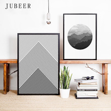 Scandinavian Style Abstract Line Poster Landscape Mountain Forest Canvas Paintings On the Wall Art Cuadros Decoracion Salon