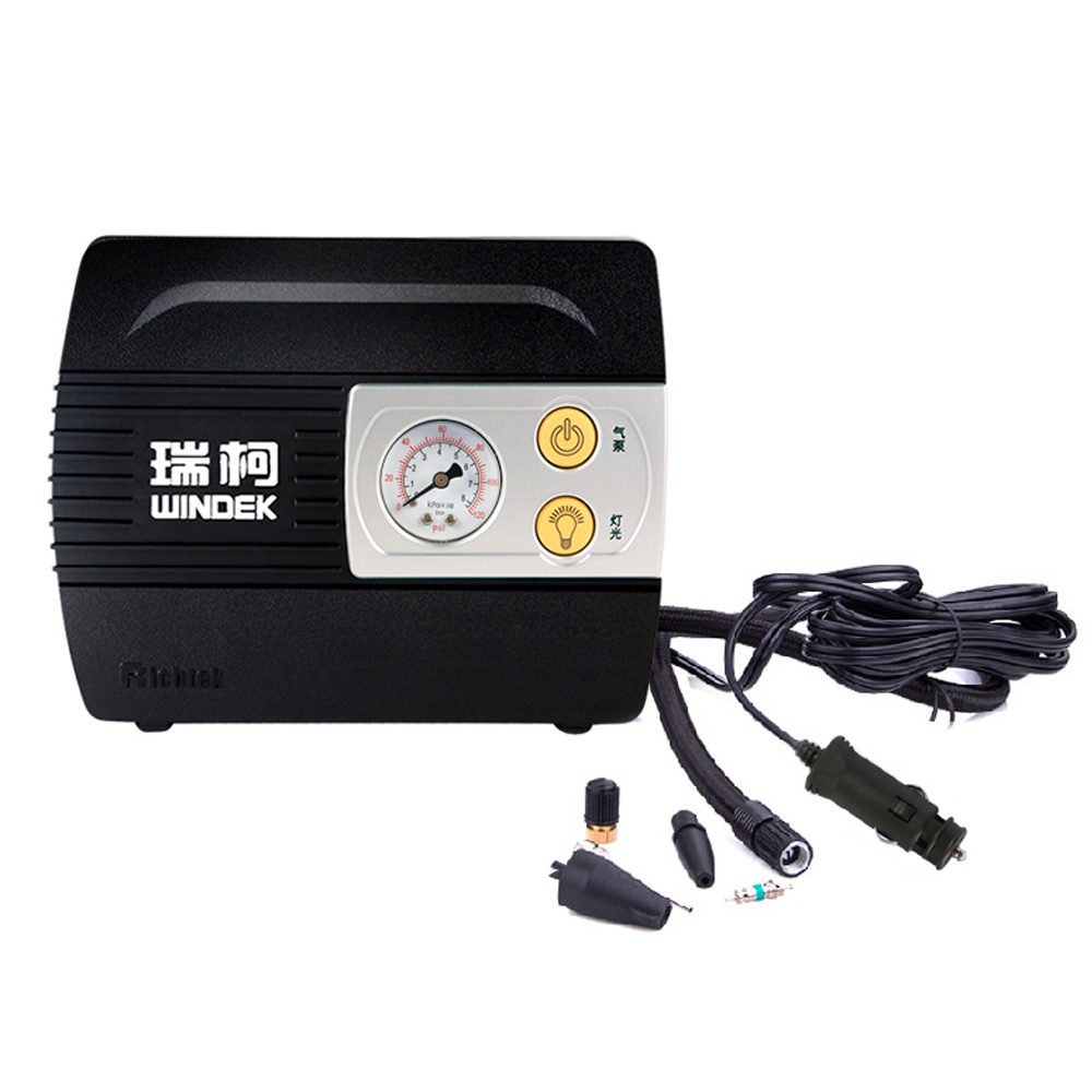 WINDEK Portable 100PSI Vehicle Car Tire Inflator Air Compressor Pump with LED Light New Arrival