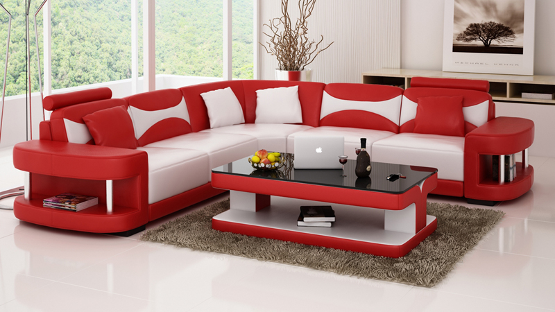 extraordinary shaped living room furniture   Attractive modern sofa for living room,l shaped sofa ...