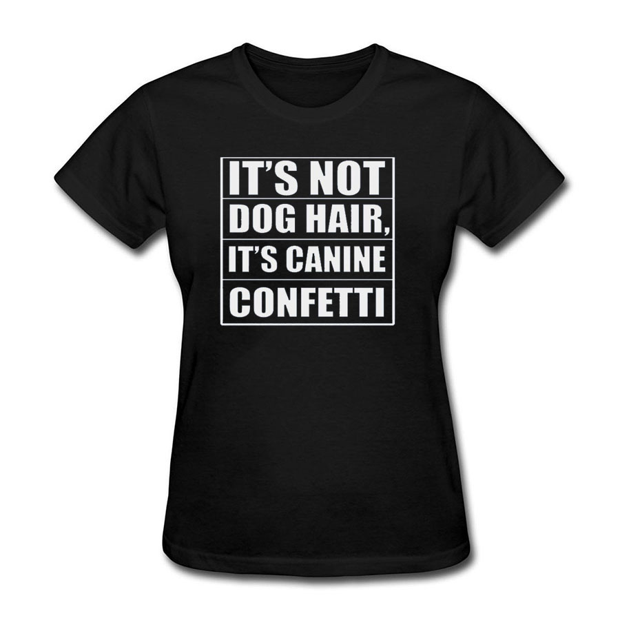 Harajuku Its Not Dog Hair Its Canine Confetti Womens Raglan T Shirt Cotton Short Sleeve Tshirt Cartoon Round Neck Female Tops