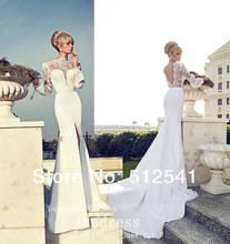 Best Selling Chiffon Wedding Dresses 2014 Mermaid Trumpet Sweetheart Lace Applique Beads Bridal Gown yk8R866