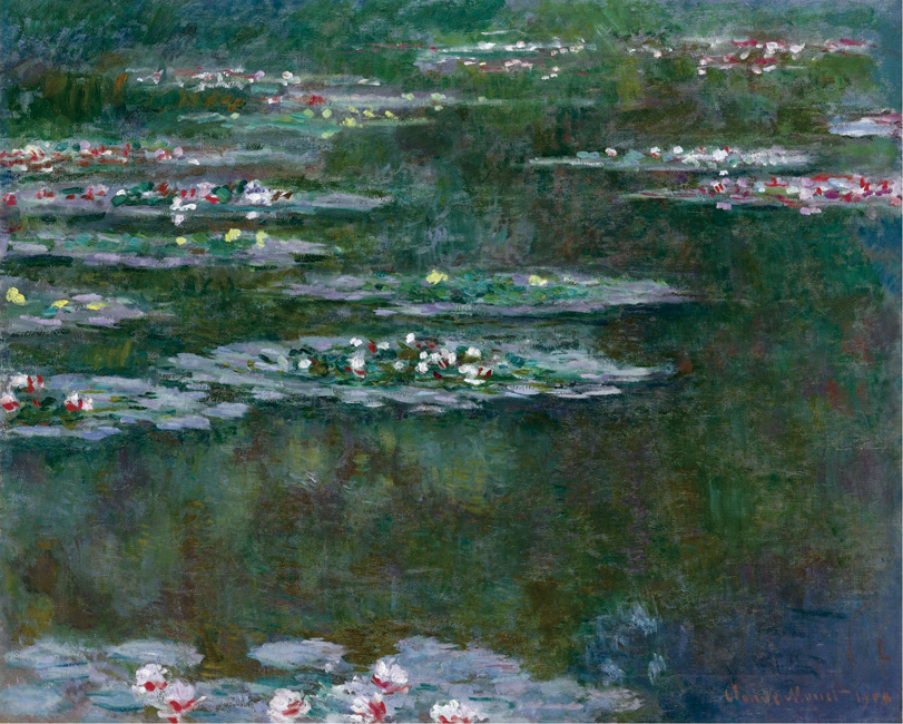 Unframed Painting Water Lilies Claude Monet Photo Printed Oil Canvas For Wall Decoration Reproduction Custom