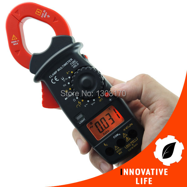 ФОТО Digital Clamp Meter Autorange Phase Sequence Test DC AC Voltage AC Current Frequency Resistance Continuity Diode Tester + Buzzer