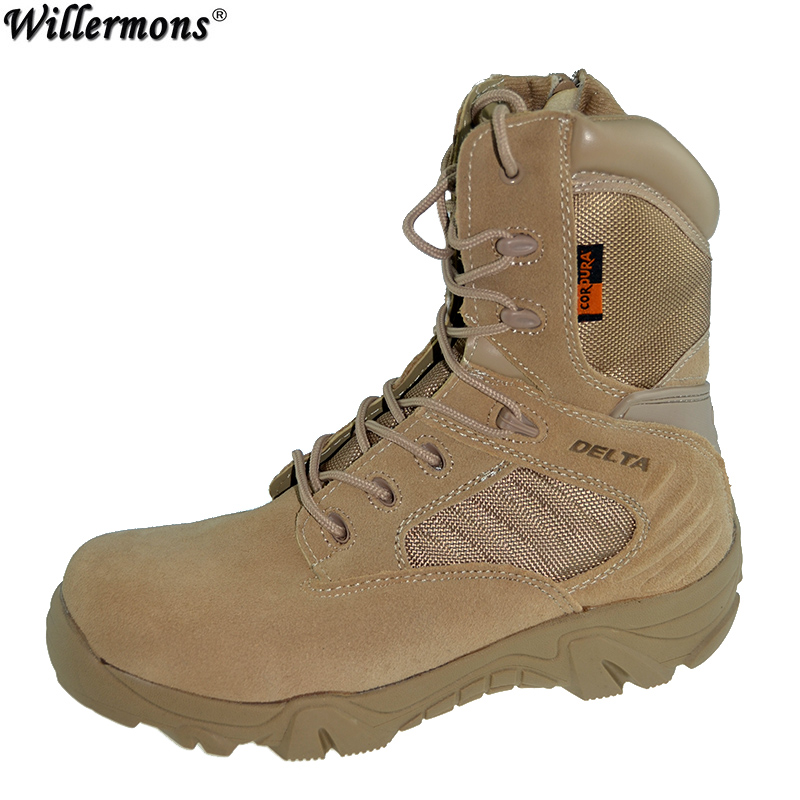 Winter autumn Men Quality Brand Military Leather Boots Special Force Tactical Desert Combat Boats Outdoor Shoes