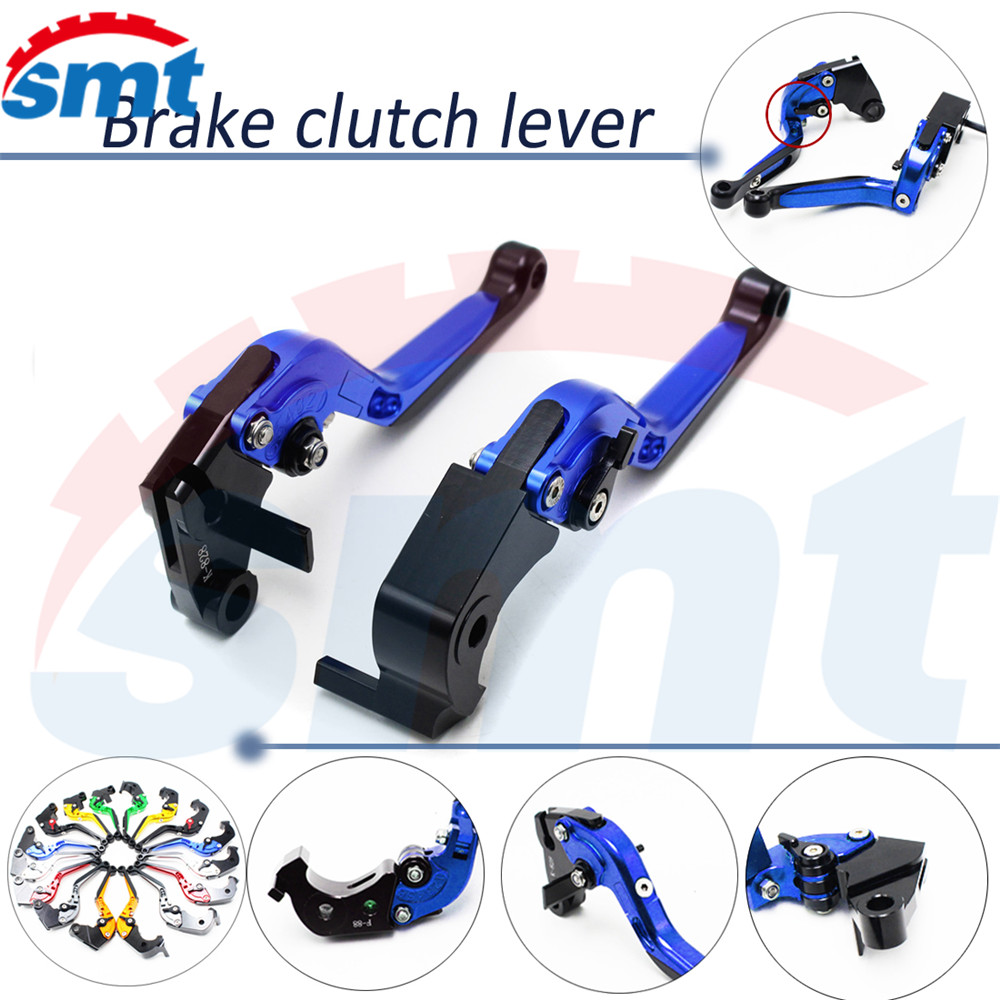 brand new 8 colors motorcycle brake lever xj6 foldable extendable brake clutch levers blue color For HONDA Magna VF 750C 2002- new brand 8 colors optional brake lever black folding