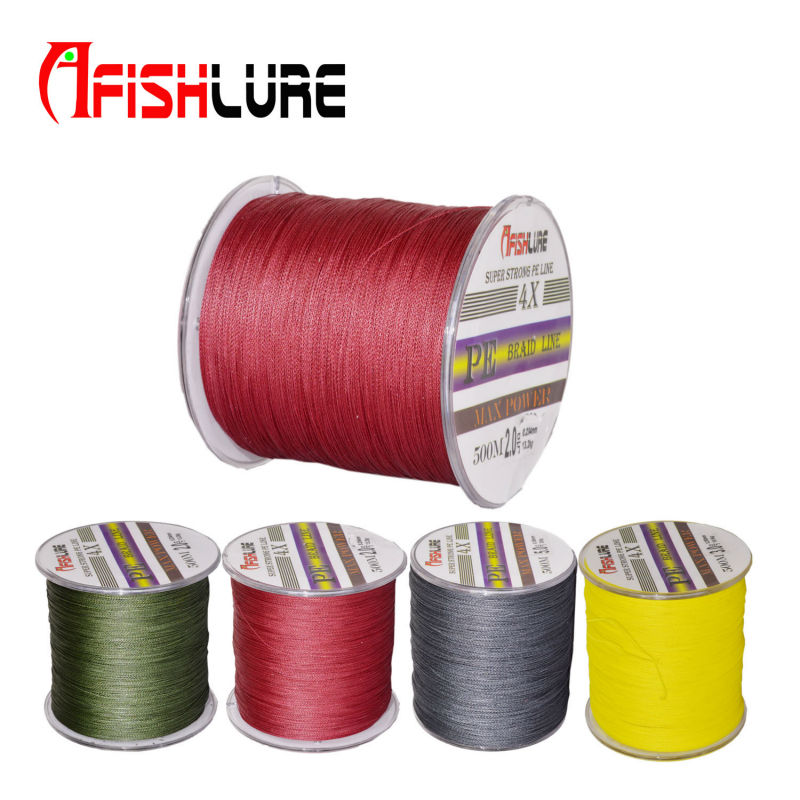 500m multifilament 4 strands 100 pe braided fishing line for 20 lb braided fishing line