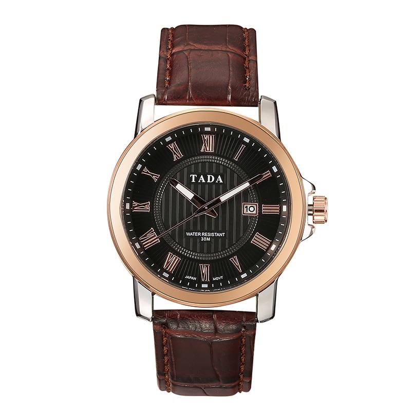 Japan Movement 3ATM Wateproof Top Luxe Merk TADA Horloges Heren Hot - Herenhorloges - Foto 1