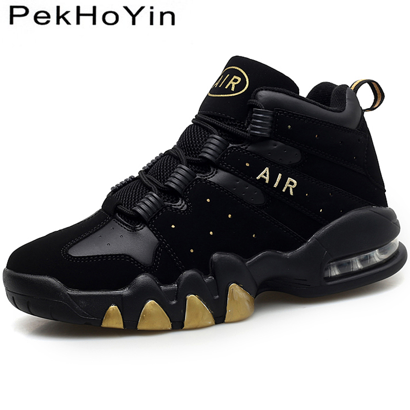2018 New High Top Air Men Casual Shoes Black Fashion Sneakers Footwear Thick Sole Male Flats Shoes Autumn Men Walking Shoes Sale