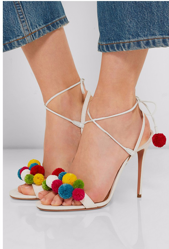 ФОТО 2017 fashionable ethnic ankle strap woman shoes super high heel cross-tied sweet elegant thin heels casual party wedding