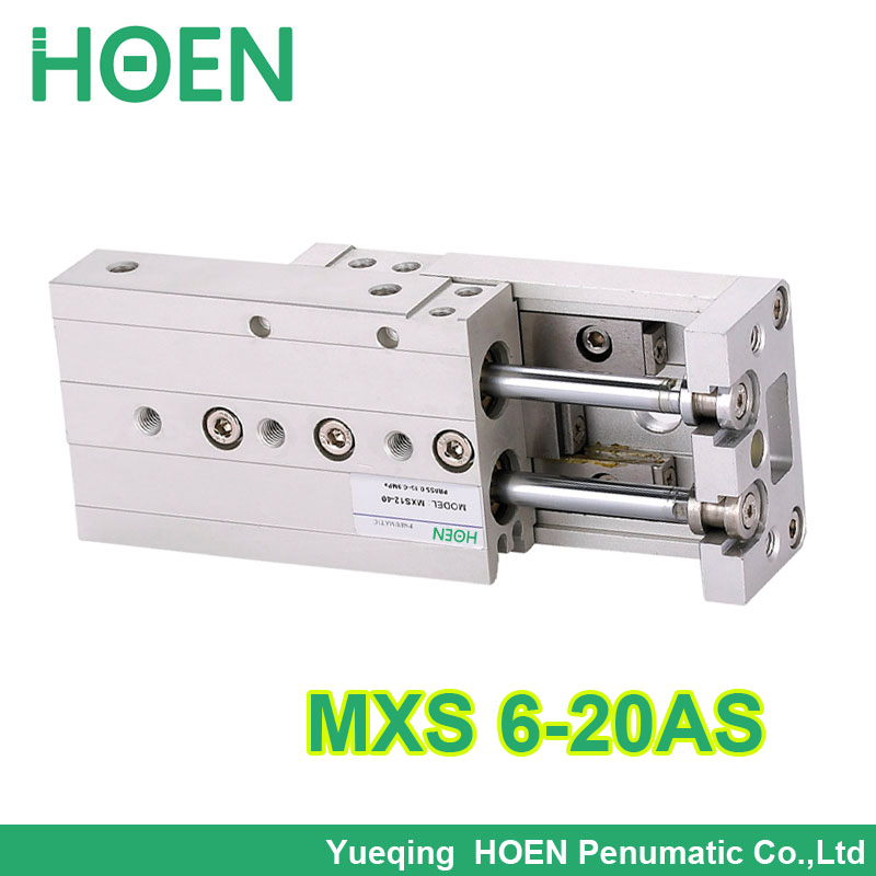 MXS6-20 High quality SMC type MXS series double acting air slide table cylinder bore 6mm stroke 20mm MXS6-20AS  MXS6-20AT high quality double acting pneumatic robot gripper air cylinder mhc2 25d smc type angular style aluminium clamps