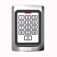SIB Metal case Teclado de Silicone de Segurança Porta de Entrada Leitor de RFID 125 Khz LOS Cartão de controle de Acesso Standalone F1331D