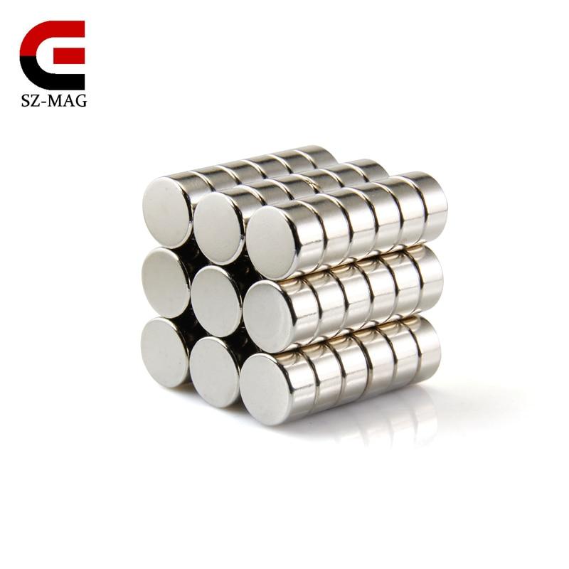 20 pz 10 pz rare earth 10x5mm strong rotonda Magnete Al Neodimio N50 commercio all'ingrosso permanente