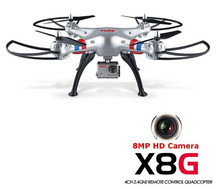SYMA X8G Headless Modus 2.4 GHz 6 axis RC Quadcopter drone dengan Kamera 8.0MP 3D Gulungan Remote Control mainan drone