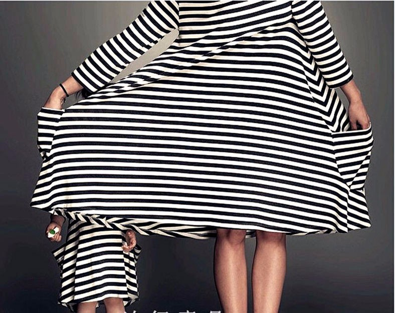 HTB1e0OqLXXXXXb2XVXXq6xXFXXXX Mommy and me family matching mother daughter dresses clothes striped mom dress kids child outfits mum big sister baby girl