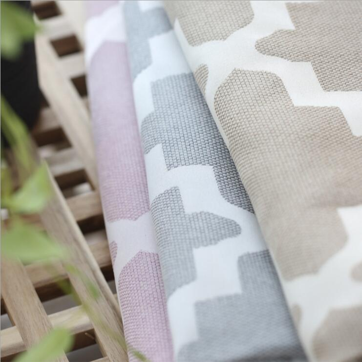 High Grade American Artificial Cotton And Linen Jacquard Shade Curtains,light  Yellow Pink Grey Blackout Curtains For Bedroom In Curtains From Home U0026  Garden ...