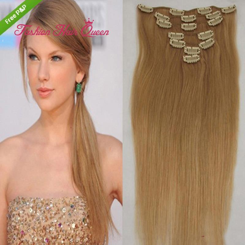 27 Dark Blonde Clip In 100 Brazilian Virgin Remy Real Human Hair