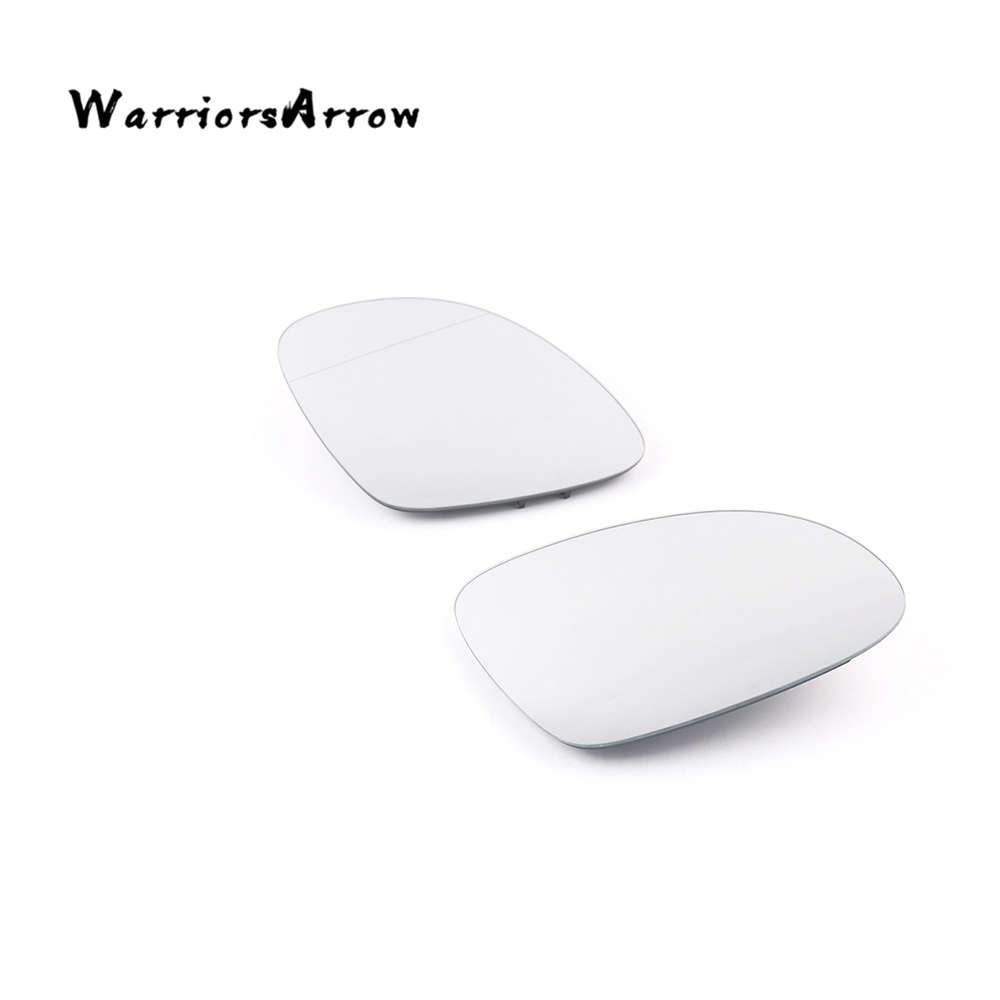 WarriorsArrow Pair Left Right Rearview Door Side Mirror Glass Plate Heated For VW <font><b>Tiguan</b></font> 2009-2016 5N0857521 5N0857522 image