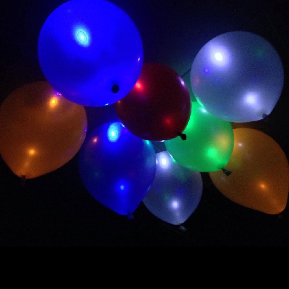 unids brillan en la oscuridad del cielo linternas globos flash led iluminado led boda globo