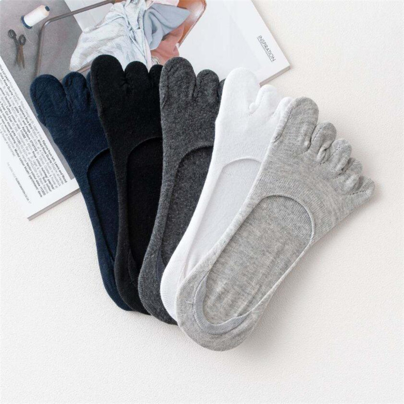 1pair Men Five Toe Socks Spring Summer And Autumn Fashion Short Sock Man's And Male 5 Finger Cotton Socks