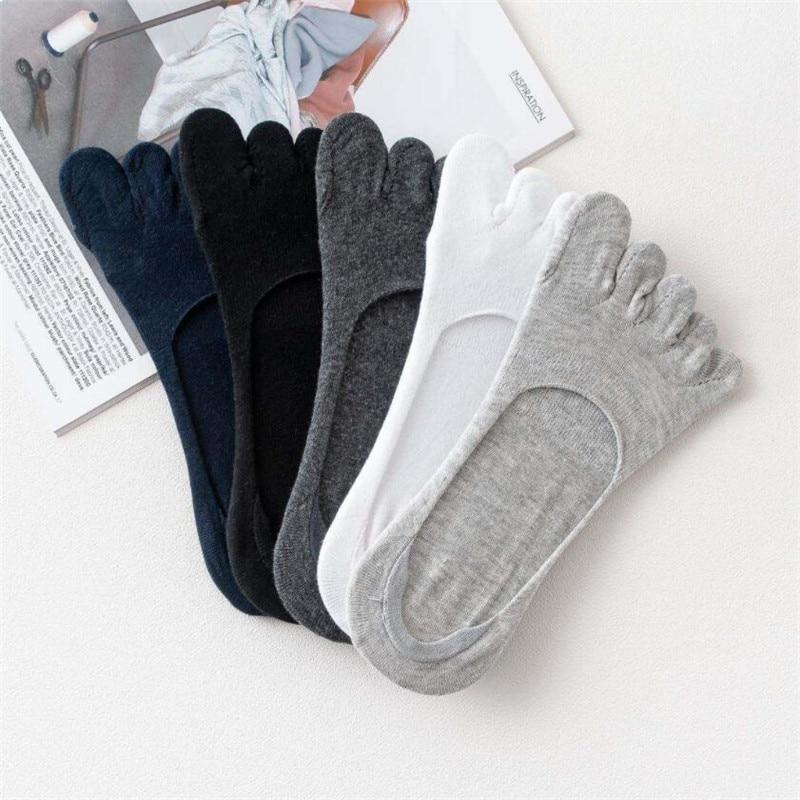 1pair Men Five Toe Socks Spring Summer And Autumn Fashion Short Sock Man's And Male 5 Finger Cotton Socks