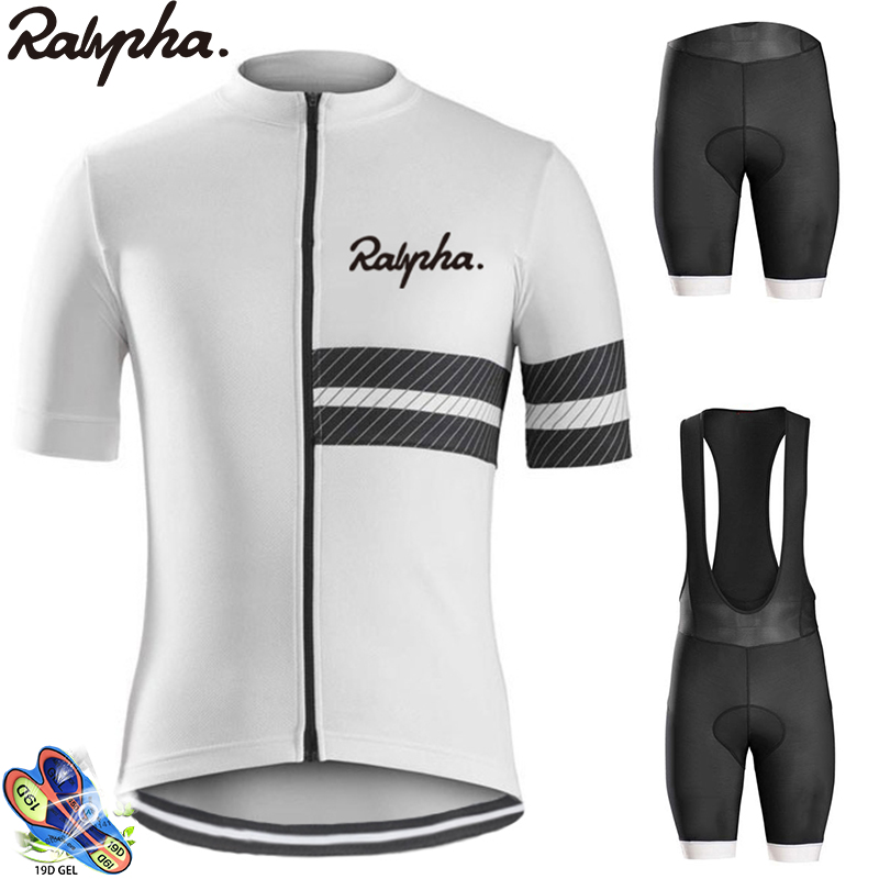 Raphaing Aleing Men Cycling Jersey Bib Shorts Pro Cycling Set Breathable Men's Cycling Jersey Kits Maillots Ciclismo Hombre 2019
